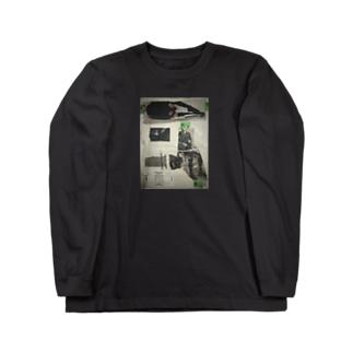 のっぺらぼう女 Long sleeve T-shirts