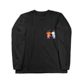 ガジュマルベイビーとシェリーベイビー Long sleeve T-shirts