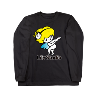 LILY STUDIOの招福の舞チーズ天使 Long sleeve T-shirts