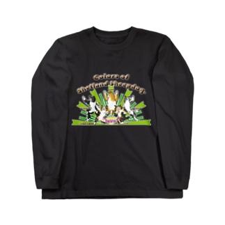 Colors of Shetland sheepdog 日本語ロゴVer. Long sleeve T-shirts