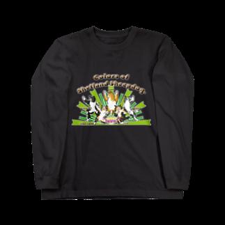 Airy BlueのColors of Shetland sheepdog 日本語ロゴVer. Long sleeve T-shirts