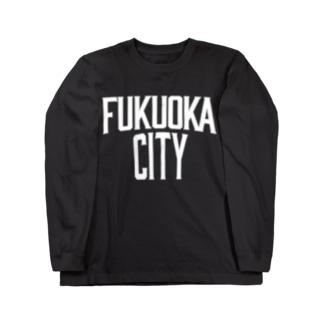 福岡シティTシャツ(レガシー白)  Long sleeve T-shirts