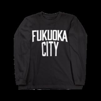 福岡シティTシャツ - Fukuoka City T-shirtsの福岡シティTシャツ(レガシー白)  Long sleeve T-shirts