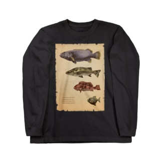 魚類画帳 Long sleeve T-shirts