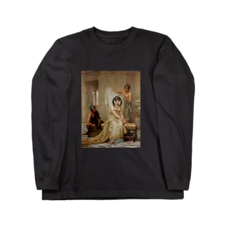 女子高生風 エドウィン・ロングの絵画Tシャツ(ツインテール) Long sleeve T-shirts