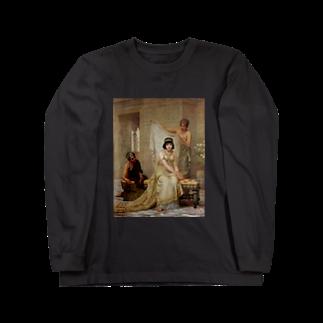 Onimous Tシャツショップの女子高生風 エドウィン・ロングの絵画Tシャツ(ショートボブ) Long sleeve T-shirts