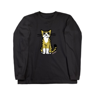 おすわり猫 Long sleeve T-shirts