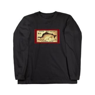 カラフトマス!猿払【セッパリ;PINK SALMON】生命たちへ感謝を捧げます。※価格は予告なく改定される場合がございます。 Long sleeve T-shirts