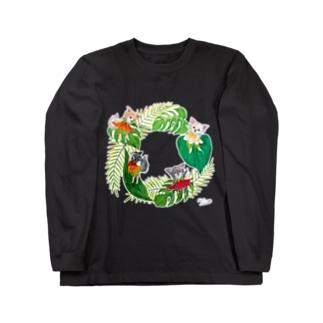 もけけ工房 SUZURI店のチワワーズ Long Sleeve T-Shirt