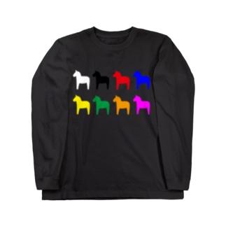 ダーラナホース_ワクワク Long sleeve T-shirts