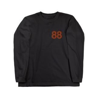 88オレンジロゴ Long sleeve T-shirts