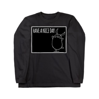 PIGGIE-PIGGY / HAVE A NICE DAY (black) Long sleeve T-shirts