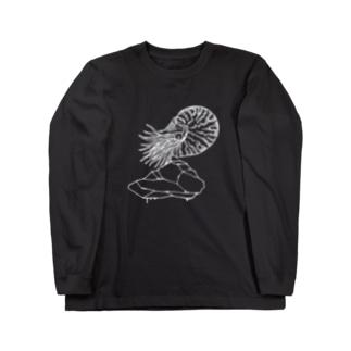 水夫の岩(deep ver) Long sleeve T-shirts