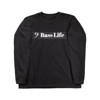 Bass Life(白文字) Long sleeve T-shirts