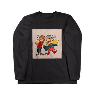 音楽がノリノリ Long sleeve T-shirts