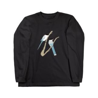 オナガ【Tシャツボディはsandkhaki推奨】 Long sleeve T-shirts