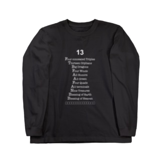 LETTERS 13 Long sleeve T-shirts