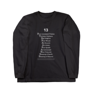 wlmのLETTERS 13 Long sleeve T-shirts