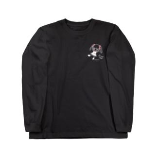 黒など色用ひかえめみこと Long sleeve T-shirts