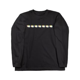 いろいろ色のモルモット並ぶ編 Long sleeve T-shirts