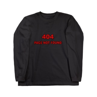 404 - NOT FOUND(黒フチver) Long sleeve T-shirts