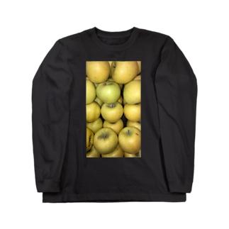黄色リンゴ!梨じゃないよ!! Long sleeve T-shirts