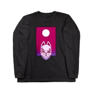 BYAKKO~狐面~ 桜花 Long sleeve T-shirts