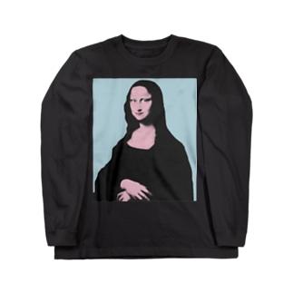 モナ・リザ・ポップ Long sleeve T-shirts