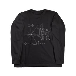 パイオニア探査機の金属板 Long sleeve T-shirts