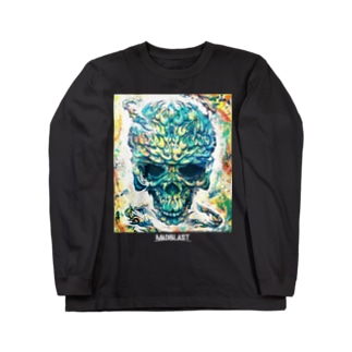 MAD SKULL 黒地用 Long sleeve T-shirts