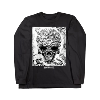 MAD SKULL(BLACK&WHITE) 黒地用 Long sleeve T-shirts