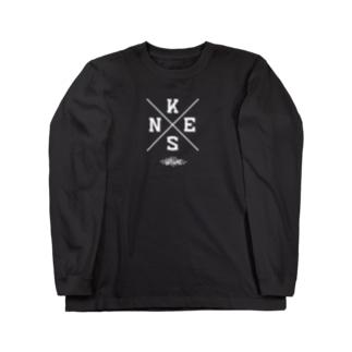 NEKS-ONEクロスロゴ Long sleeve T-shirts