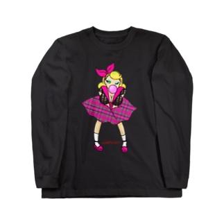 ロカビリーガールⅡ【pink】 Long sleeve T-shirts