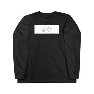 手_白枠 Long sleeve T-shirts