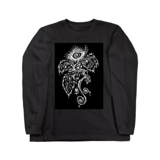「露悪の、その先へ」(黒) Long sleeve T-shirts