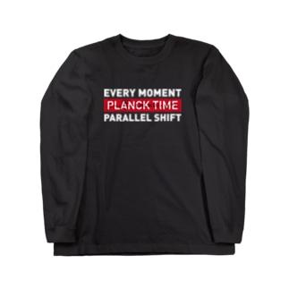 パラレルシフトT (wh) Long sleeve T-shirts