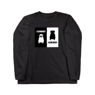 白黒パグちゃん A Long sleeve T-shirts