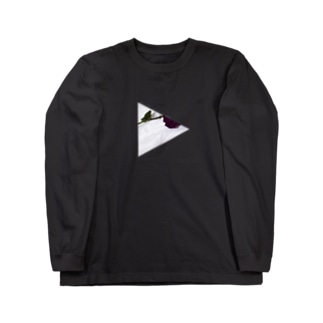 バラ(文字グレー) Long sleeve T-shirts