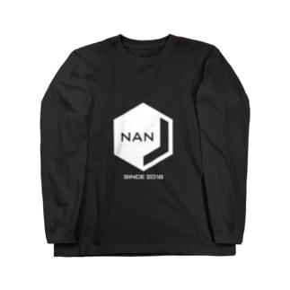 NANJCOIN公式ロゴ入り(白地) Long sleeve T-shirts