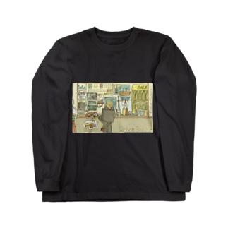 ロボットバーガー Long sleeve T-shirts