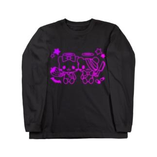 病みホリ猫熊 Long sleeve T-shirts