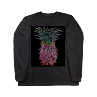 colorful ananas Long sleeve T-shirts