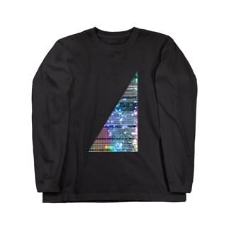 線入り直角三角形 Long sleeve T-shirts