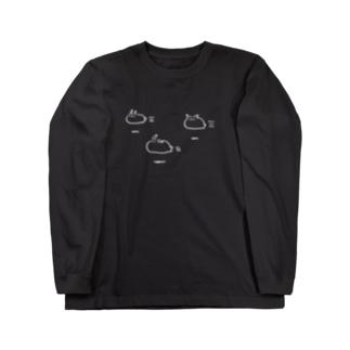 むてきの空飛ぶうさぎ隊シャツ(濃色用) Long sleeve T-shirts