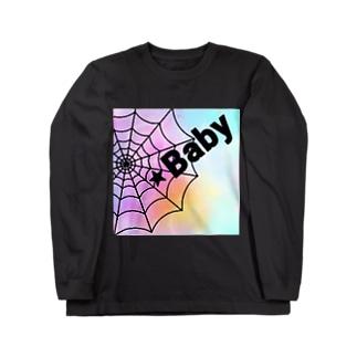 クモの巣 Long sleeve T-shirts