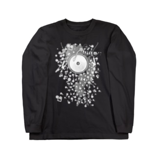 Earphones Long sleeve T-shirts