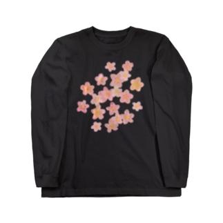 桜満開 Long sleeve T-shirts