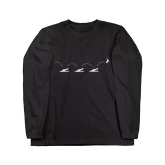 ピクトロゴ・因幡の白兎(黒) Long sleeve T-shirts