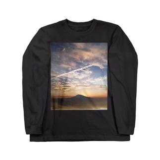 岩木山-みおり写真館 Long sleeve T-shirts