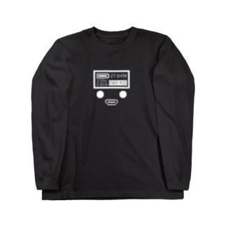 コンソール白 Long sleeve T-shirts